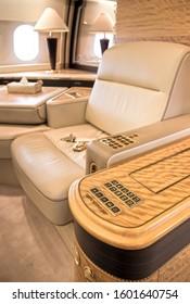 Private Jet ultra luxury interior