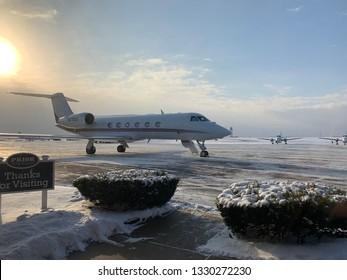 Private Jet winter