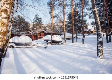 private land in winter