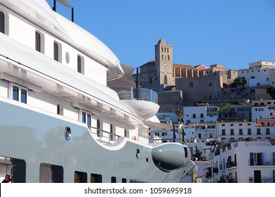 Private luxury Superyacht in Ibiza, Balearic Islands, Spain. Summer, 05.07.2011