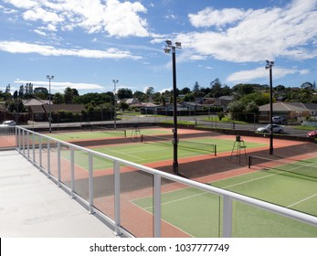 Private Members Tennis Club Astroturf Courts View from Balcony
