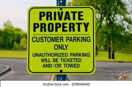 private property no parking tow away zone