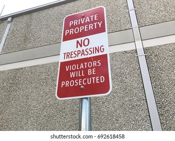 Private Property No Trespassing
