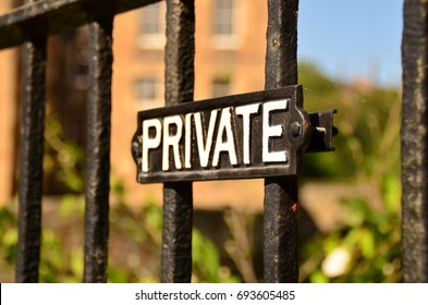 Private property notice old board