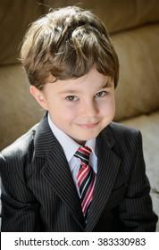 Private school boy