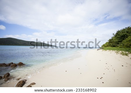 Private Secluded Beach Caribbean Sea Clouds Stock Photo (Edit Now
