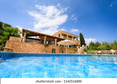 The private spanish house in summer