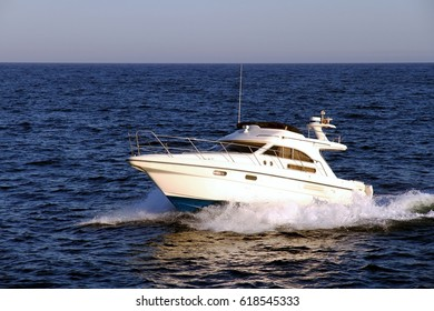 Private yacht sailing in Alicante bay in Spain.