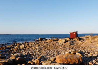 Privy by the sea