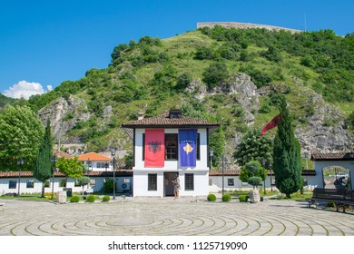 Prizren, Kosovo - 31 May, 2017: The League of Prizren Building at the Complex of the Albanian League of Prizren, the old complex where Albanian political organization founded on June 10, 1878.