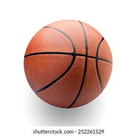 pro basketball on white