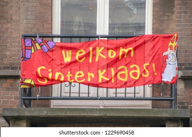 A Pro Flag Welkom Sinterklaasfeest For The Pro Saint Nicolas Party At Amsterdam The Netherlands 2018