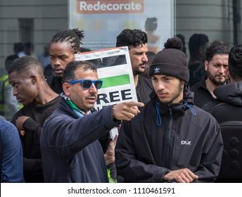Pro Palestine demonstrators attend the Al Quds Day rally, London, 10/06/18.