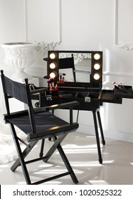 Pro Rolling Studio TOGO Wheeled Trolley Makeup Artist Case. Studio to go makeup case with light. Makeup Artist rolling wheeled organizer trolley cosmetic train case.
