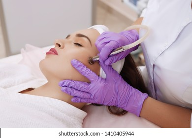 Procedure of Microdermabrasion. Healthcare clinic cosmetology.
