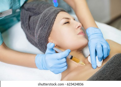 procedure Plasmolifting injection. plasma injection into the skin of the patient
