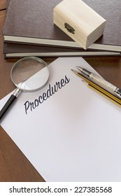 Procedures word on plain paper