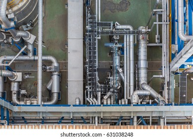 Process area of chemical refinery plant