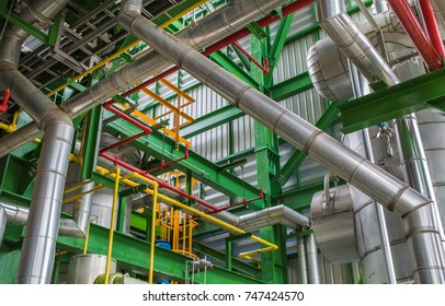 Process area pipe structure of oil refinery plant