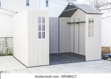 In the process of building a storage shed in backyard  sc 1 st  Shutterstock & Storage Shed Images Stock Photos u0026 Vectors | Shutterstock