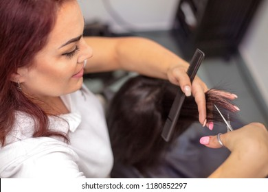 The process of creating a stylish hairstyle