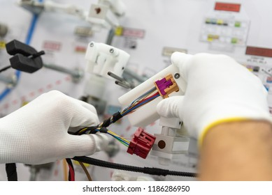 process of manufacturing the wiring harnesses for vehicles, automobile  industry