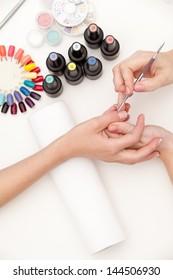 Process of nail polishing