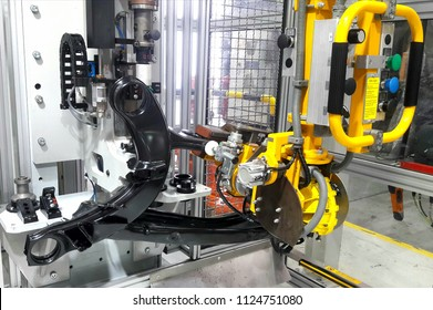 Process press in rubber bushing into rear carrier of automatic machine  in Industrial,Car assembly.