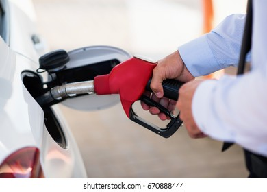 process of refueling the car