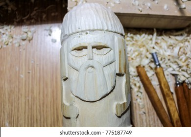 The process of wood carving