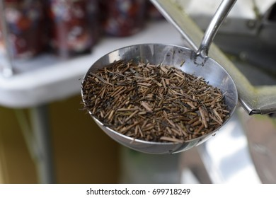 processed green tea isolated