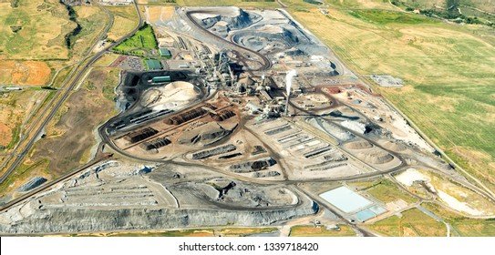 The processing facility for a phosphate mining operation