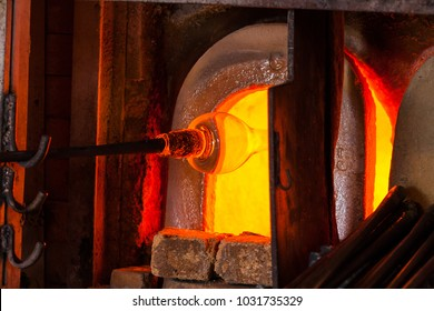 The processing of Murano glass, Venice, Veneto, Italy