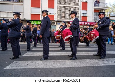 Procession of the Glory during the Sunday of Resurrection, celebrating the Easter Sunday in the streets of Valencia. Valencia, Spain. April 1st, 2018.