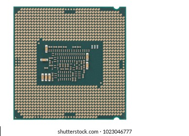 Processor for office PC, isolated on white background