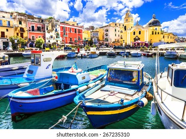 Procida , beautiful colorful small island of Itay