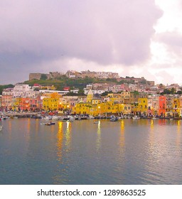Procida, colorful island near the volcano Vesuvius near Naples and the island of Ischia, region Campania, Italy