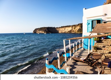 Procida, Gulf of Naples, Campania region, Italy, 22 August 2017: View of Ciraccio beach