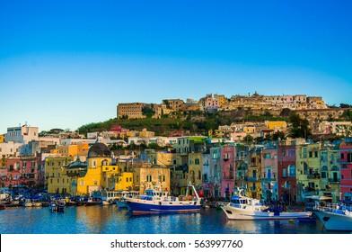 Procida Island, Naples bay, Italy