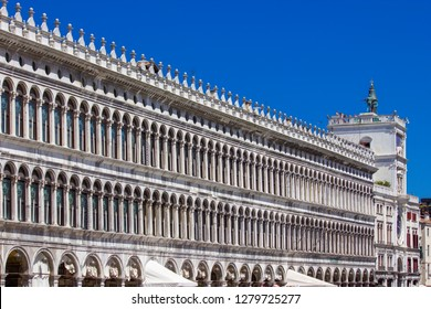 Procuratie Vechio palace in San Marco square in Venice, Italy