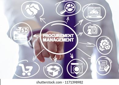 Procurement Management Commerce Business concept.