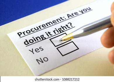 Procurement: Are you doing it right? yes or no
