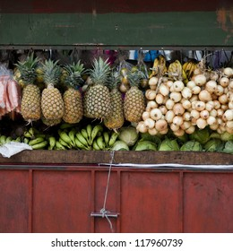 Produce in an open market in San Jose, Costa Rica