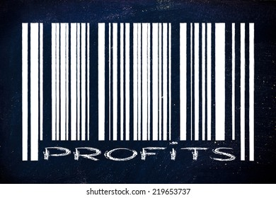 product  bar code design with profits writing