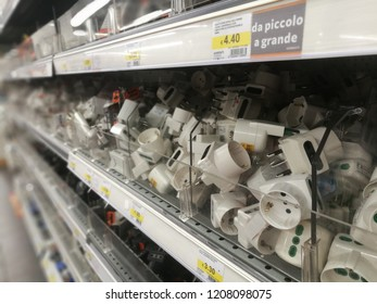 Product (books, ebook reader,eletrical instruments plugs ecc) For Sale in a Shopping Center Mall in Milan,Italy-October 2018