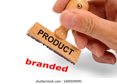 product branded printed on rubber stamp