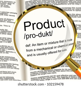 Product Definition Magnifier Shows Goods For Sale At A Store