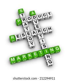 product marketing (green-white crossword series)