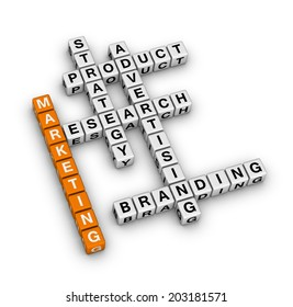product marketing (orange-white crossword series)