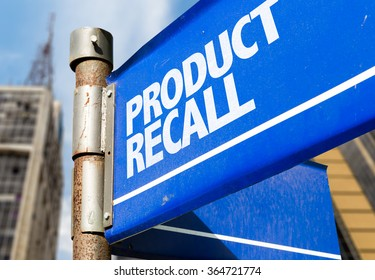 Product Recall written on road sign